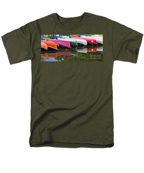canoes - Lake Wingra - Madison  Men's T-Shirt  (Regular Fit) by Steven Ralser