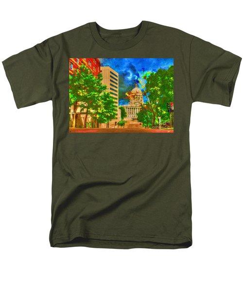 Capital - Jefferson City Missouri - Painting Men's T-Shirt  (Regular Fit) by Liane Wright