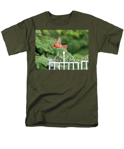 Men's T-Shirt  (Regular Fit) featuring the photograph Cardinal Time To Soar by Thomas Woolworth