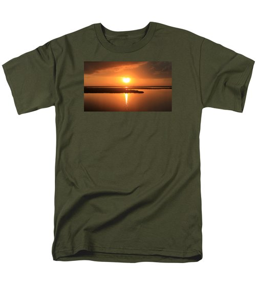 Men's T-Shirt  (Regular Fit) featuring the photograph Caribbean Sunset by Milena Ilieva