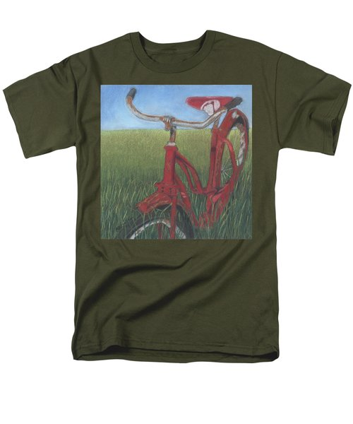 Men's T-Shirt  (Regular Fit) featuring the drawing Carole's Bike by Arlene Crafton