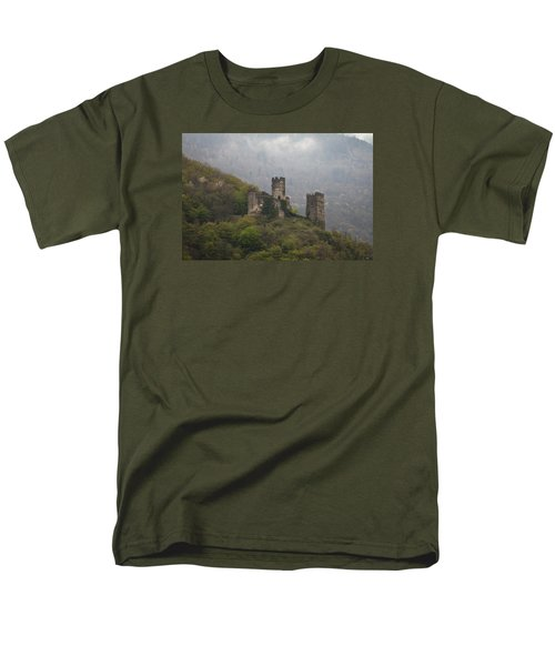 Castle In The Mountains. Men's T-Shirt  (Regular Fit) by Clare Bambers