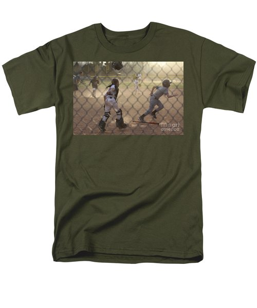 Catcher In Action Men's T-Shirt  (Regular Fit) by Chris Thomas