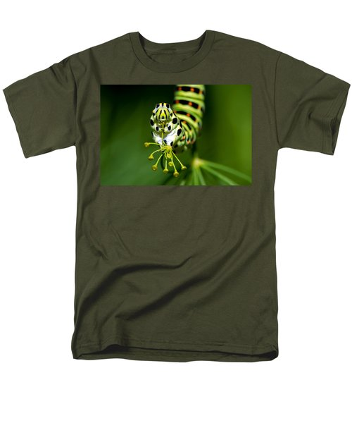 Caterpillar Of The Old World Swallowtail Men's T-Shirt  (Regular Fit) by Torbjorn Swenelius