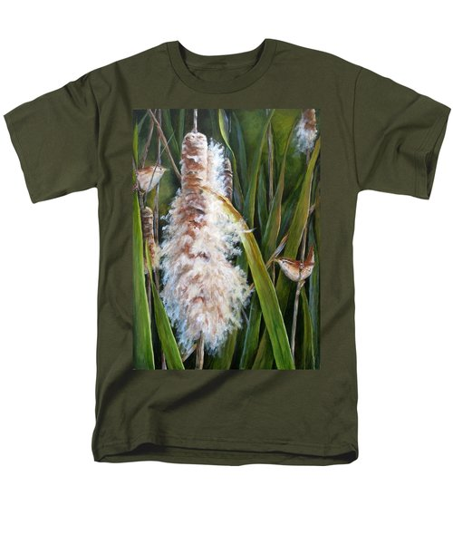Cattails And Wrens Men's T-Shirt  (Regular Fit)