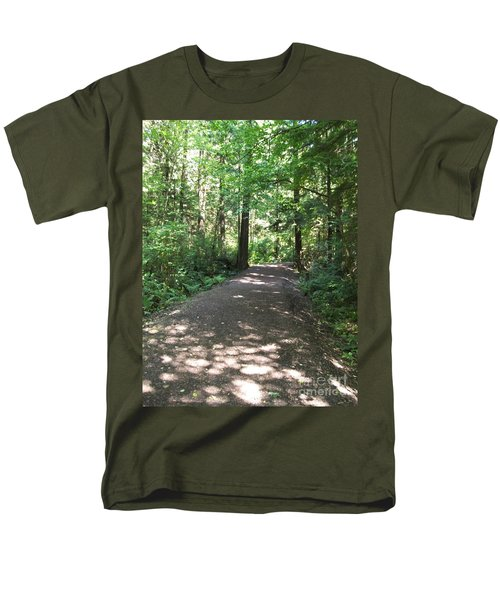 Men's T-Shirt  (Regular Fit) featuring the photograph Cedar Shadow Steps by Kim Prowse