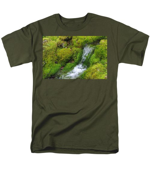Men's T-Shirt  (Regular Fit) featuring the photograph Chasing Waterfalls by Marilyn Wilson