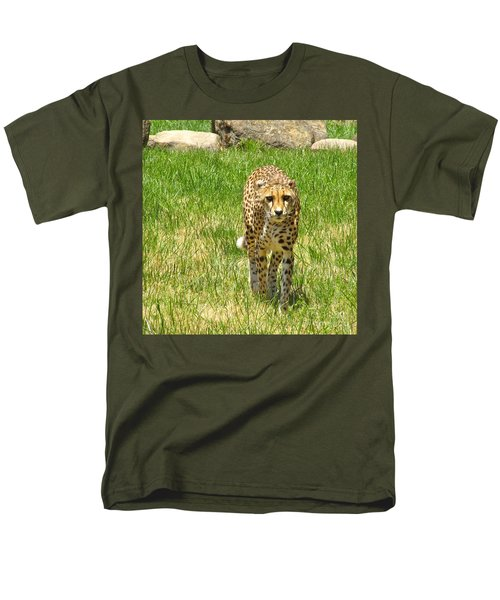 Men's T-Shirt  (Regular Fit) featuring the photograph Cheetah Approaching by CML Brown