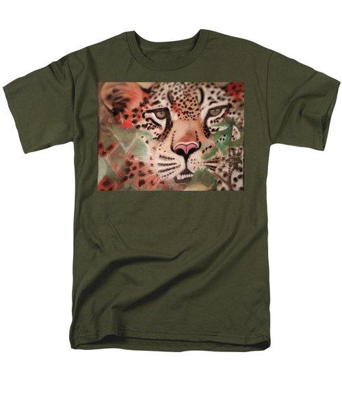 Cheetah In The Grass Men's T-Shirt  (Regular Fit) by Renee Michelle Wenker