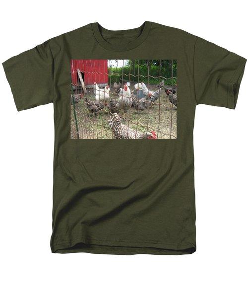Chicken Coop. Men's T-Shirt  (Regular Fit) by Francine Heykoop