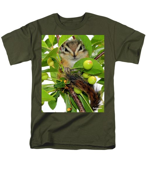 Men's T-Shirt  (Regular Fit) featuring the photograph Chip Or Dale by Barbara Chichester