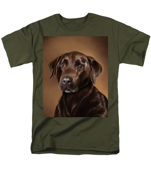 Chocolate Lab Men's T-Shirt  (Regular Fit) by Michael Spano