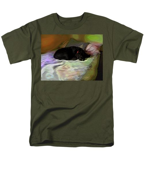 Men's T-Shirt  (Regular Fit) featuring the mixed media Chopper Dreams Of Beds by Terence Morrissey