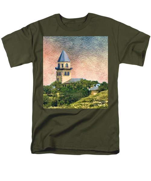 Church On Hill Men's T-Shirt  (Regular Fit) by Janette Boyd
