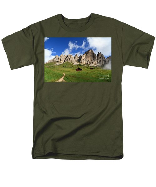 Men's T-Shirt  (Regular Fit) featuring the photograph Cir Group - Gardena Pass by Antonio Scarpi
