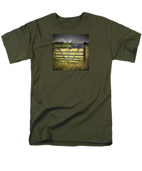 Men's T-Shirt  (Regular Fit) featuring the photograph Closed Down by Jean OKeeffe Macro Abundance Art