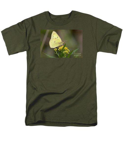 Clouded Sulphur Men's T-Shirt  (Regular Fit) by Randy Bodkins