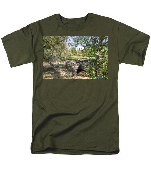 Clover Valley Park Bridge Men's T-Shirt  (Regular Fit) by Jim Thompson