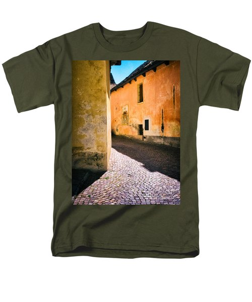Men's T-Shirt  (Regular Fit) featuring the photograph Cobbled Street by Silvia Ganora