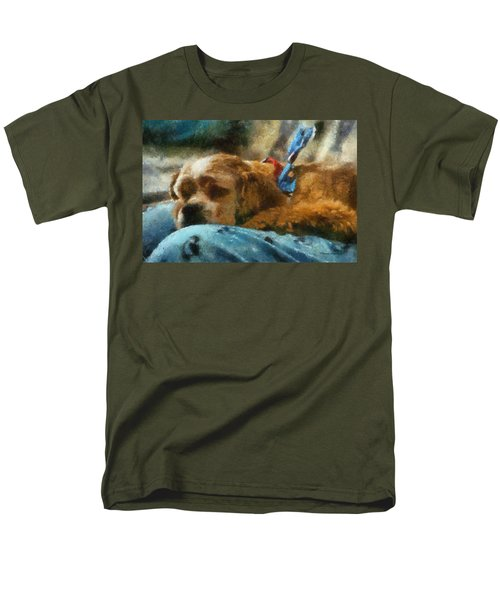Cocker Spaniel Photo Art 07 Men's T-Shirt  (Regular Fit) by Thomas Woolworth