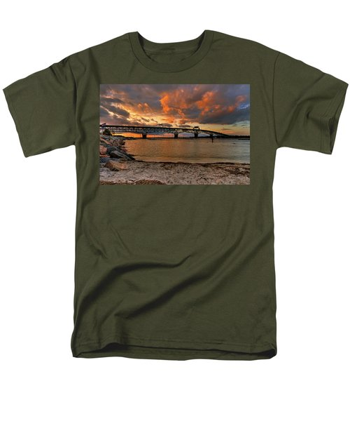 Coleman Bridge At Sunset Men's T-Shirt  (Regular Fit) by Jerry Gammon