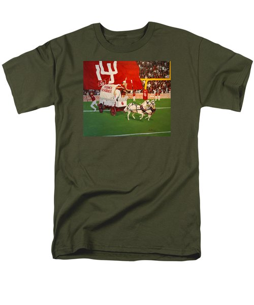 Men's T-Shirt  (Regular Fit) featuring the painting College Football In America by Alan Lakin