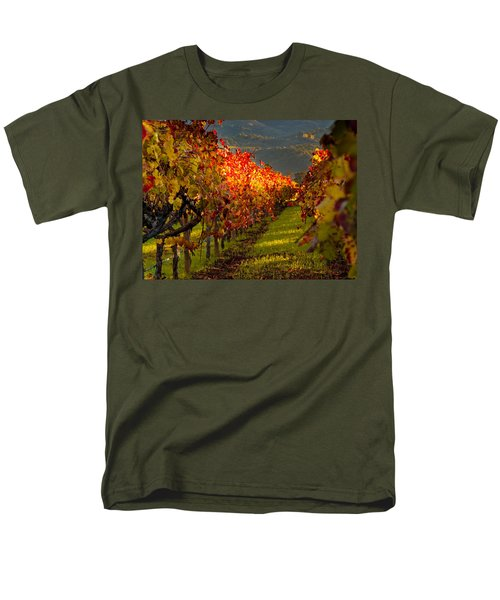 Color On The Vine Men's T-Shirt  (Regular Fit) by Bill Gallagher