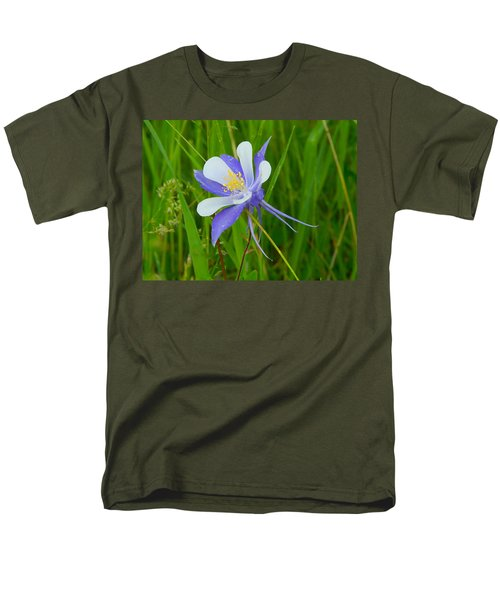 Colorado Columbine Men's T-Shirt  (Regular Fit) by Dan Miller