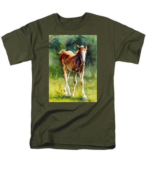 Colt In Green Pastures Men's T-Shirt  (Regular Fit) by Bonnie Rinier