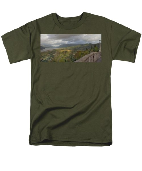Men's T-Shirt  (Regular Fit) featuring the photograph Columbia River Gorge View From Crown Point by JPLDesigns