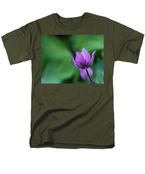Columbine Flower Bud Men's T-Shirt  (Regular Fit) by Kathy Eickenberg
