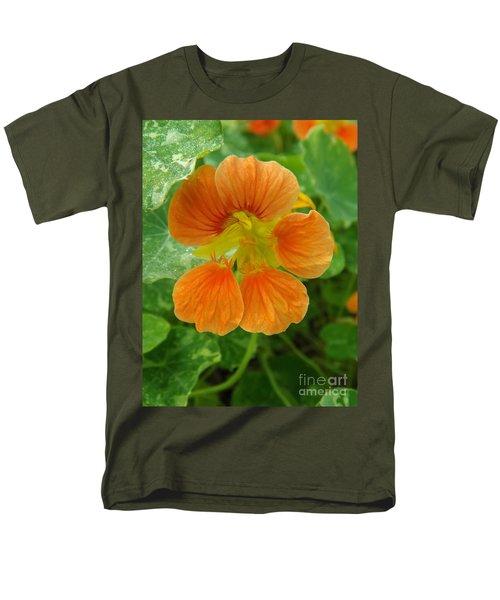 Common Nasturtium Men's T-Shirt  (Regular Fit) by Sara  Raber