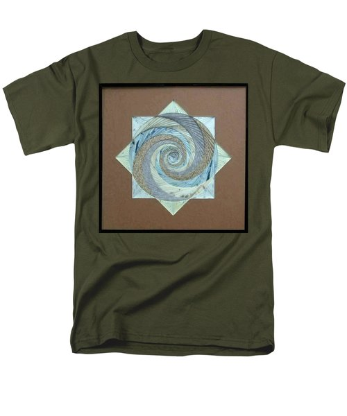 Men's T-Shirt  (Regular Fit) featuring the mixed media Compass Headings by Ron Davidson
