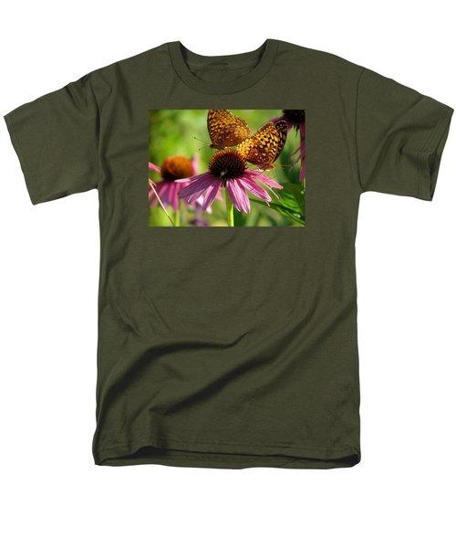 Coneflower Butterflies Men's T-Shirt  (Regular Fit) by David T Wilkinson