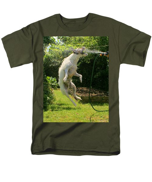 Cool Dog Men's T-Shirt  (Regular Fit) by Ron Harpham