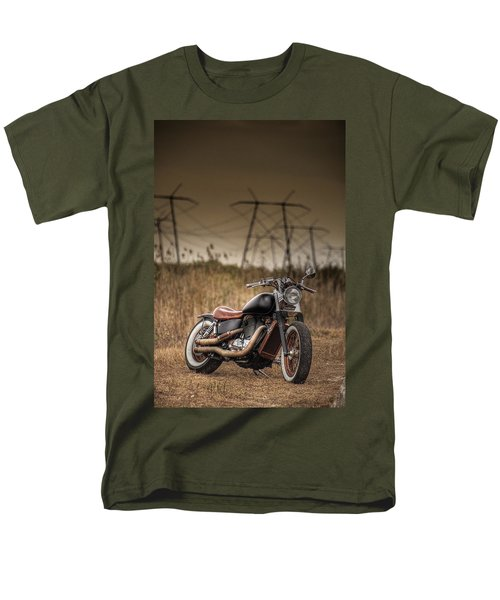 Copper Chopper Men's T-Shirt  (Regular Fit) by Bradley R Youngberg