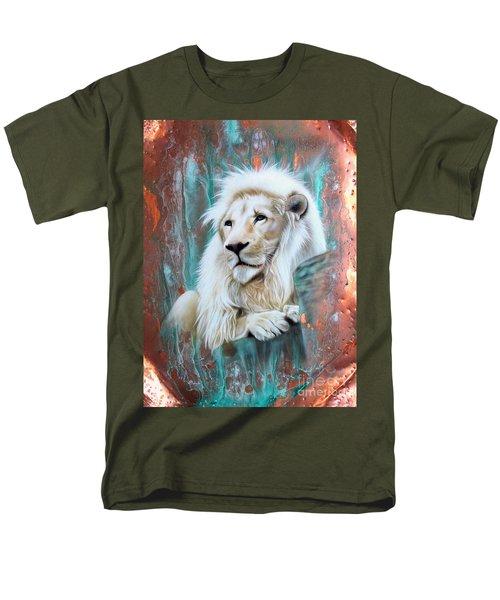 Copper White Lion Men's T-Shirt  (Regular Fit) by Sandi Baker
