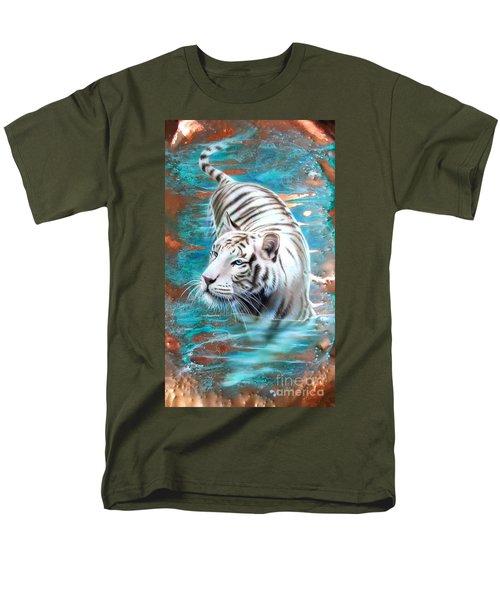 Copper White Tiger Men's T-Shirt  (Regular Fit) by Sandi Baker