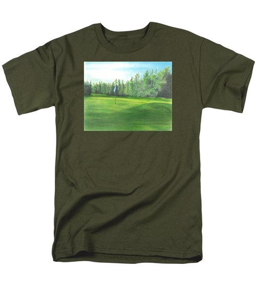 Men's T-Shirt  (Regular Fit) featuring the drawing Country Club by Troy Levesque