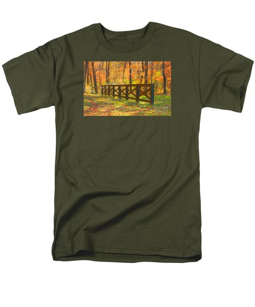 Men's T-Shirt  (Regular Fit) featuring the photograph Country Fence by Geraldine DeBoer