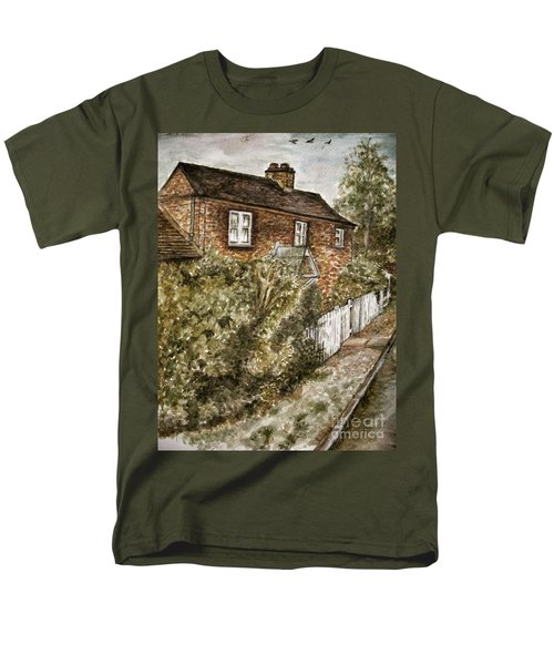 Old English Cottage Men's T-Shirt  (Regular Fit) by Teresa White