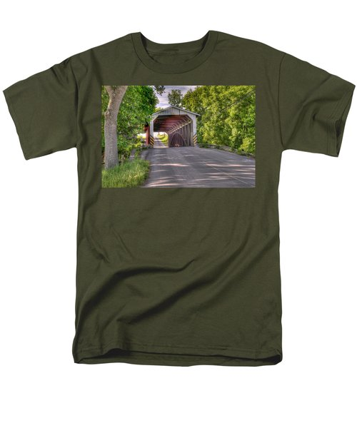 Men's T-Shirt  (Regular Fit) featuring the photograph Covered Bridge by Jim Thompson