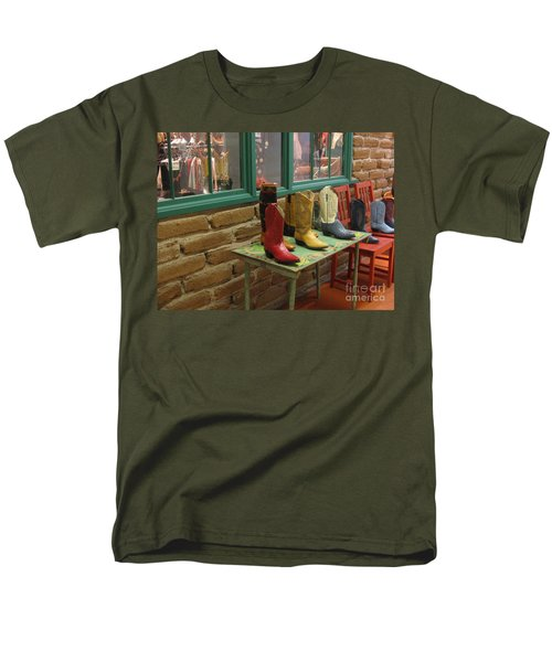 Men's T-Shirt  (Regular Fit) featuring the photograph Cowboy Boots by Dora Sofia Caputo Photographic Art and Design