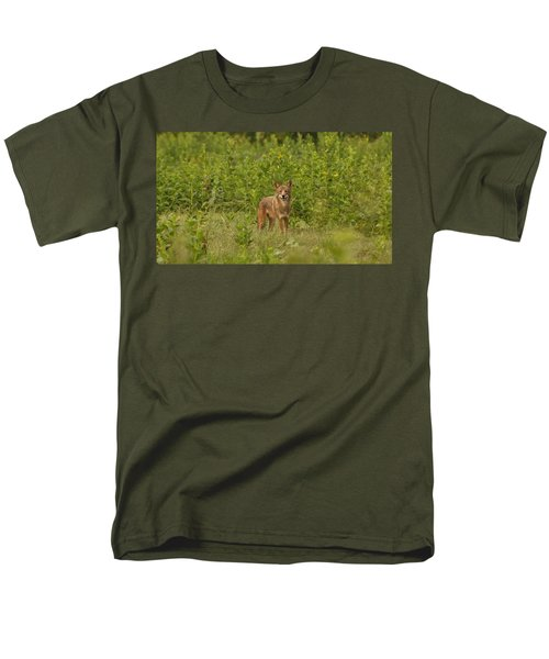 Coyote Happy Men's T-Shirt  (Regular Fit) by Eric Liller