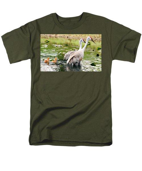 Crane Family Goes For A Swim Men's T-Shirt  (Regular Fit) by Susan Molnar