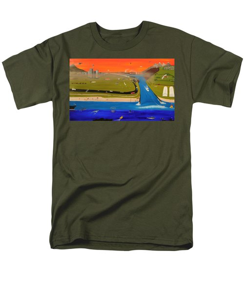 Creation And Evolution - Painting 2 Of 2 Men's T-Shirt  (Regular Fit) by Tim Mullaney