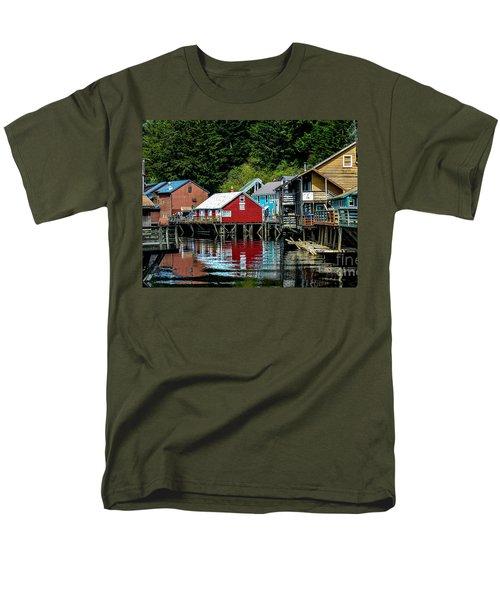 Creek Street - Ketchikan Alaska Men's T-Shirt  (Regular Fit) by Debra Martz
