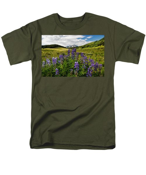 Men's T-Shirt  (Regular Fit) featuring the photograph Crested Butte Lupines by Ronda Kimbrow