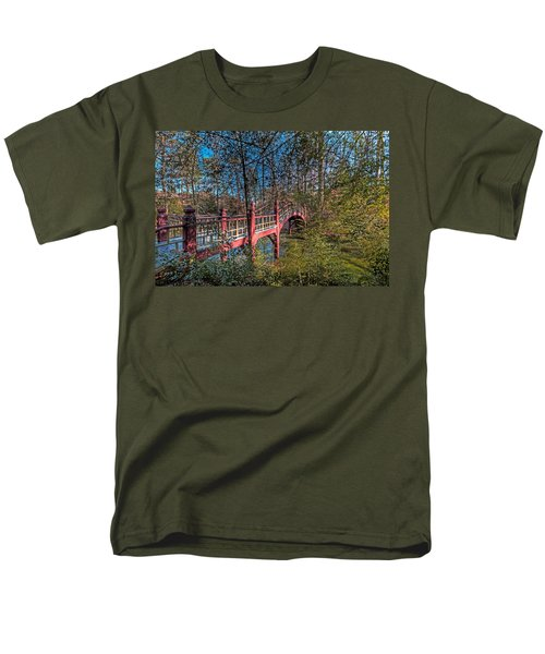 Men's T-Shirt  (Regular Fit) featuring the photograph Crim Dell Bridge by Jerry Gammon