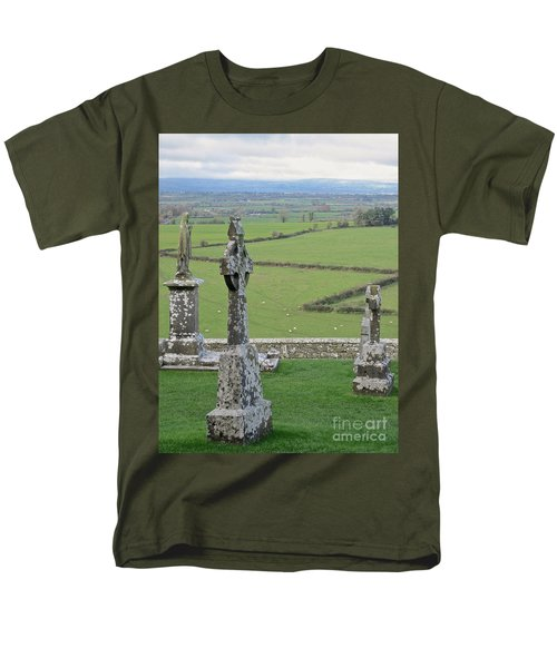 Men's T-Shirt  (Regular Fit) featuring the photograph Crosses Of Cashel by Suzanne Oesterling